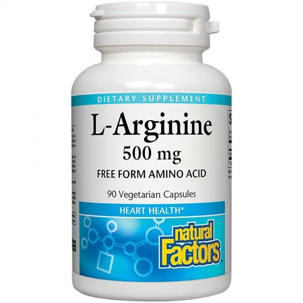 내츄럴팩터스 엘-알기닌 L-Arginine 500 MG 90 Capsules