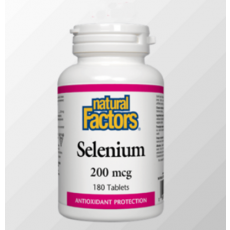 네추럴팩터스 셀레늄 Natural Factors Selenium  200mcg 180정